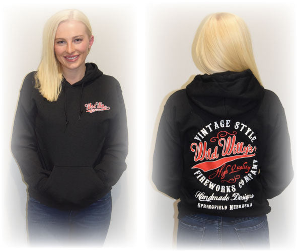 Black Wild Willy's Gear Hooded Sweatshirt