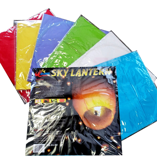 Multi Colored Sky Lantern by Flashing Fireworks