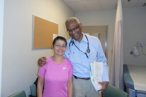 Colleen with her Medical Oncologist
