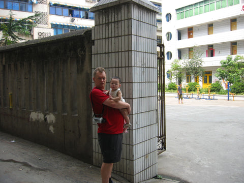 Maddi-Fu's finding place at the gate of her orphanage