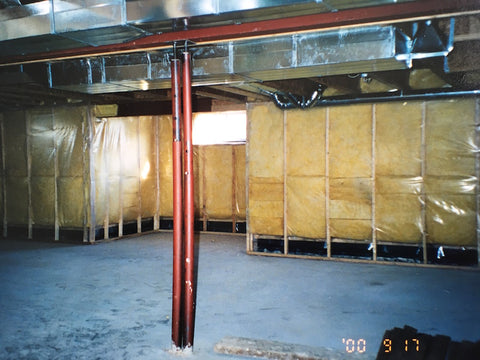 Our huge unfinished basement, before it was filled with stuff