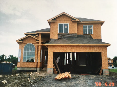 Our house being built in 2000 front view