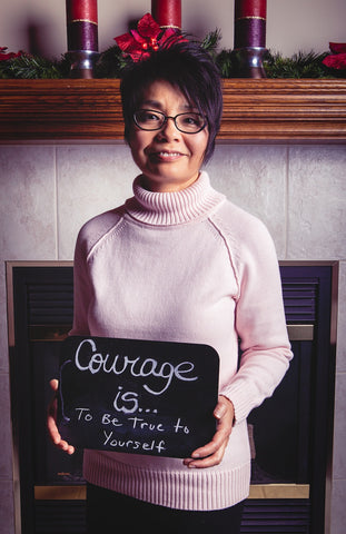 Courage is to be true to yourself, Photo by Wil Orellana
