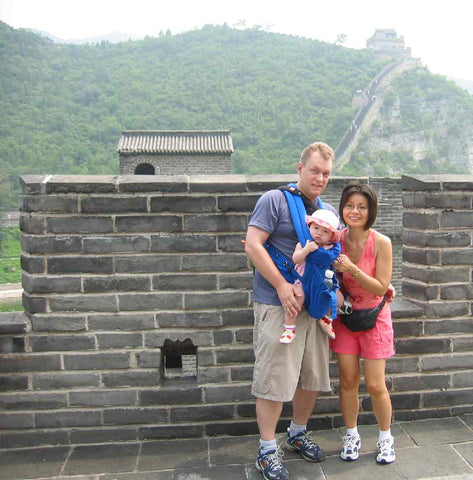 Climbing the Great Wall of China with Maddi-Fu