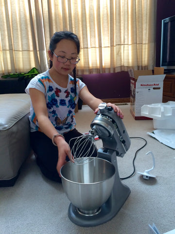 Maddi gets a stand mixer for her 12th birthday