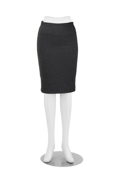 coKANna Patti Pencil Skirt in Charcoal front view