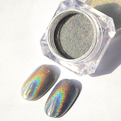 Holo Rainbow Powder Mirror Powder Holographic Kit For Nails Include Sela Beauty