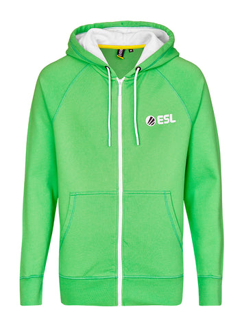 ESL In Color Zip Hoodie Green