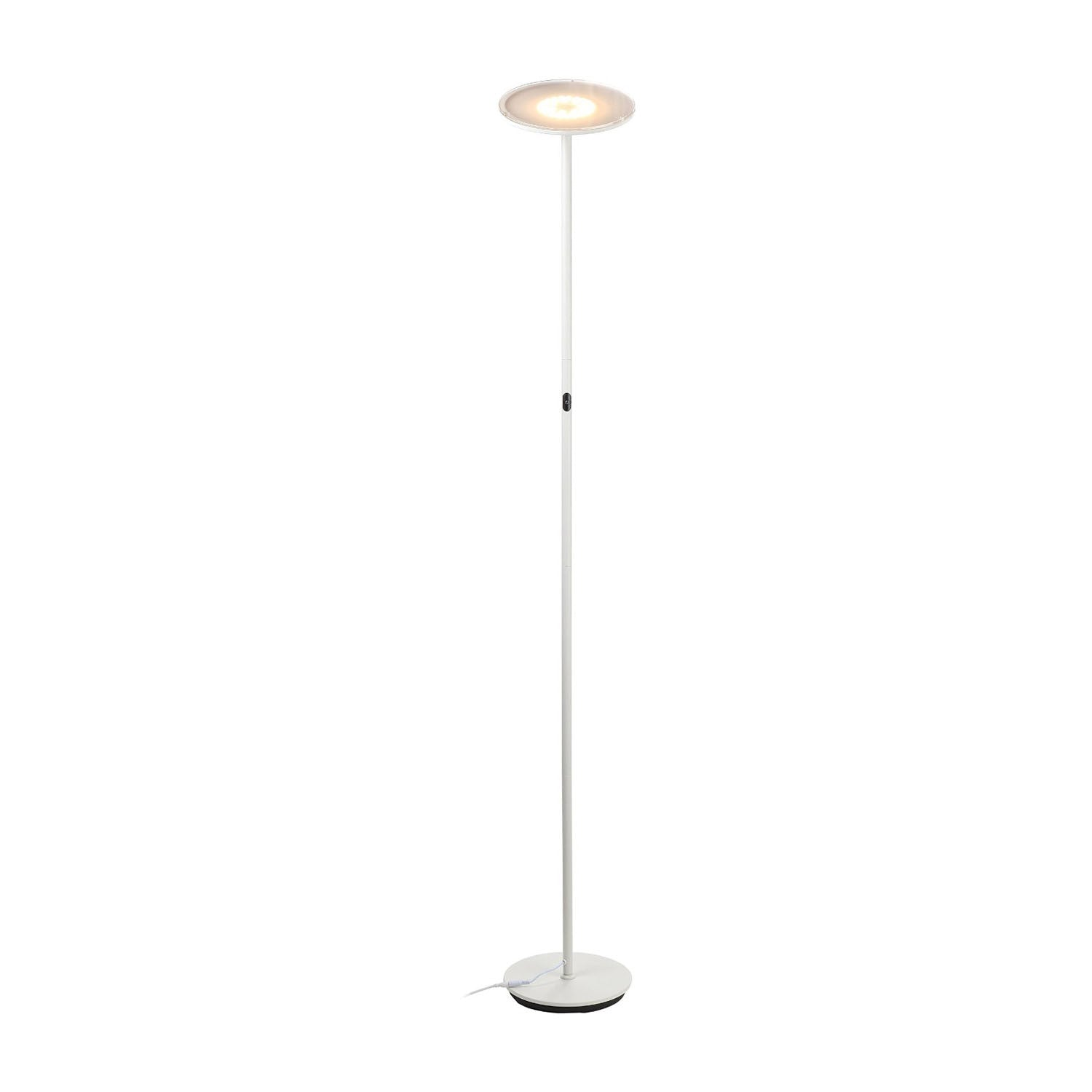 brightech store  sky led torchiere floor lamp – dimmable super  - brightech store  sky led torchiere floor lamp – dimmable super brightwatt led – warm white color – omnidirectional head – sleek white finish