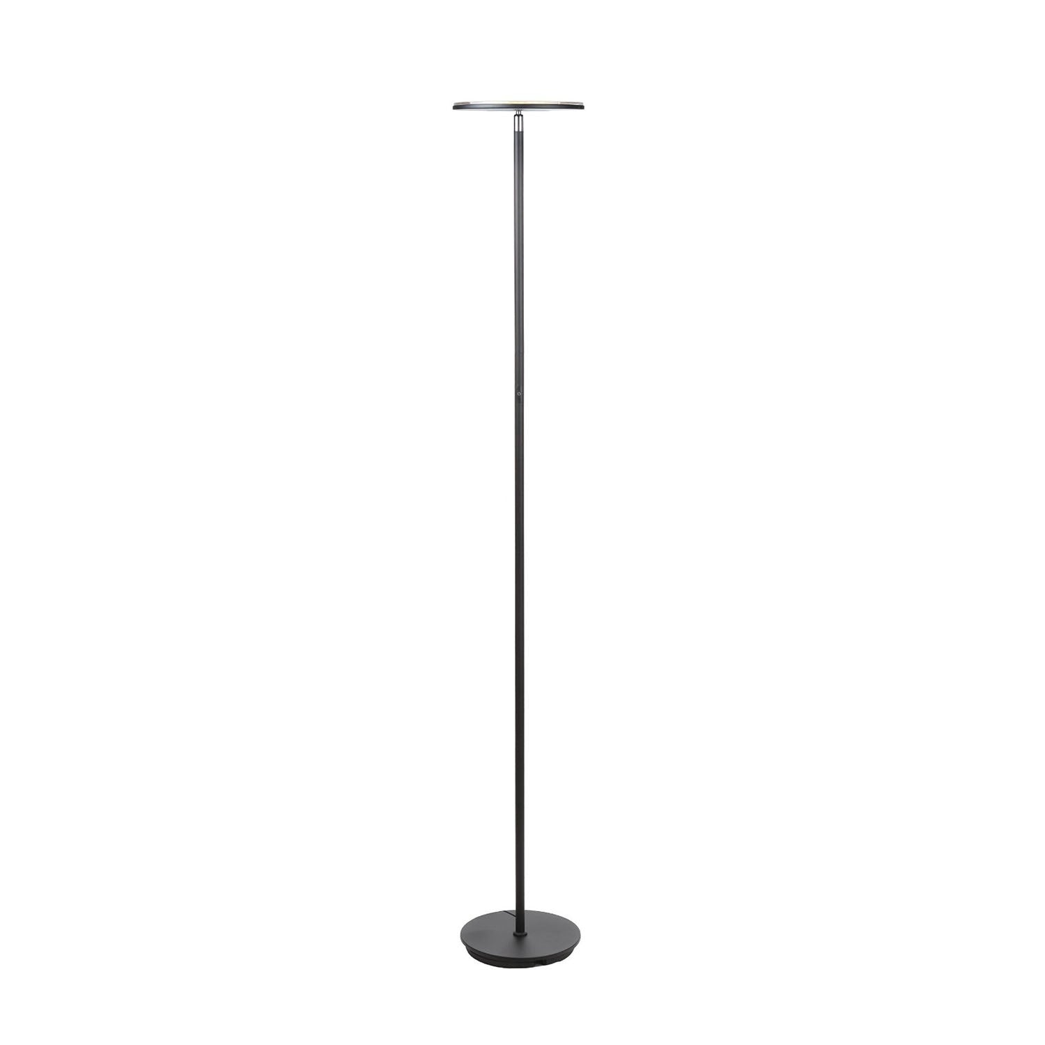 brightech store  sky led torchiere floor lamp – dimmable super  - sky led torchiere floor lamp  dimmable super bright watt led  warmwhite color  omnidirectional head  sleek black finish