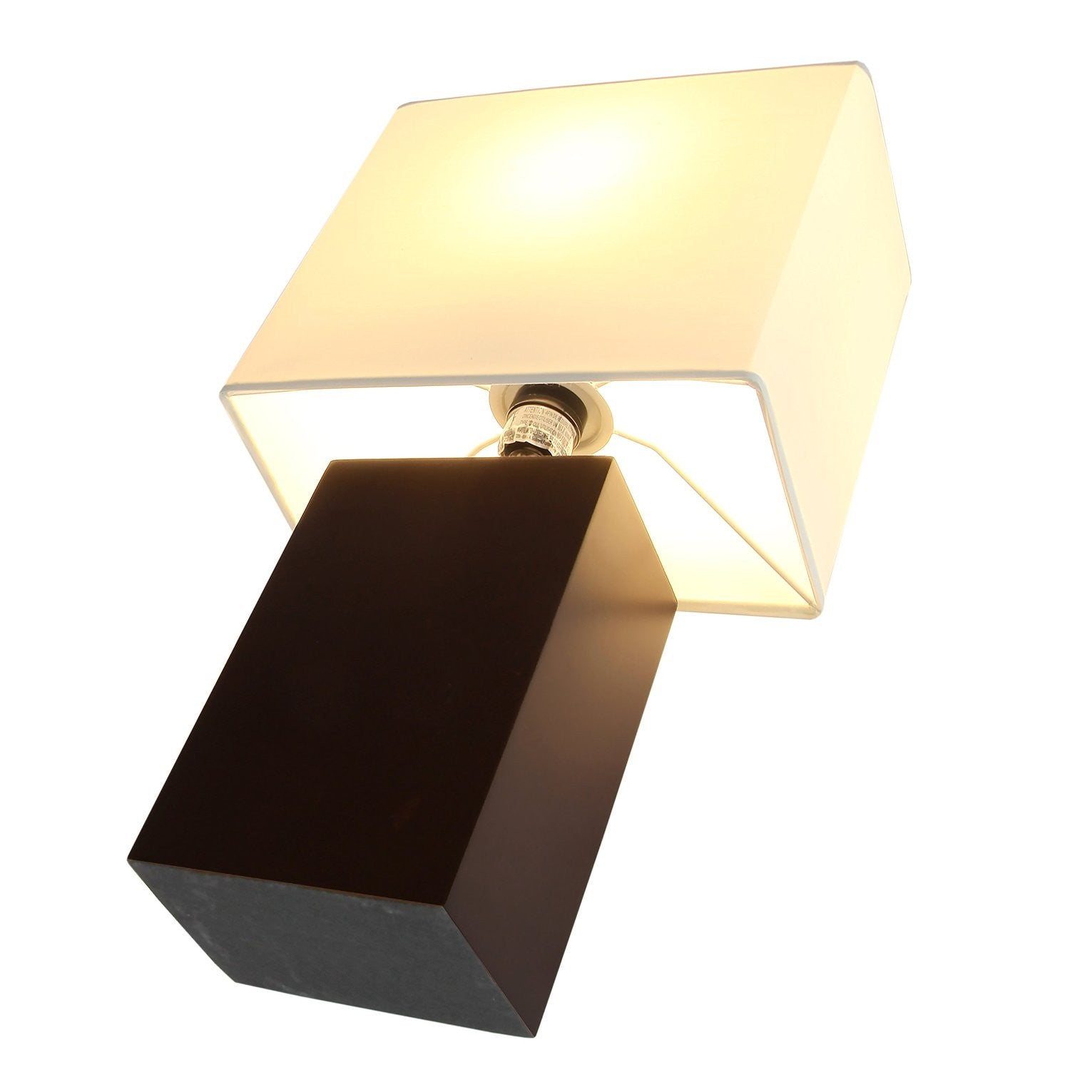 brightech store mode contemporary table lamp genuine wood base relaxing light for. Black Bedroom Furniture Sets. Home Design Ideas