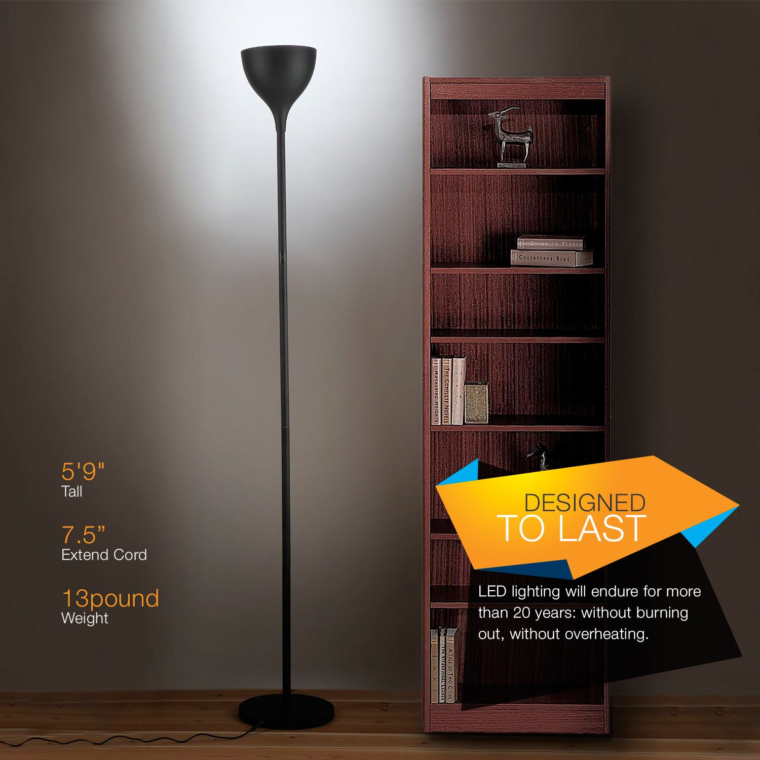 Brightech Store | SKY Elite LED Torchiere Floor Lamp – Dimmable ...
