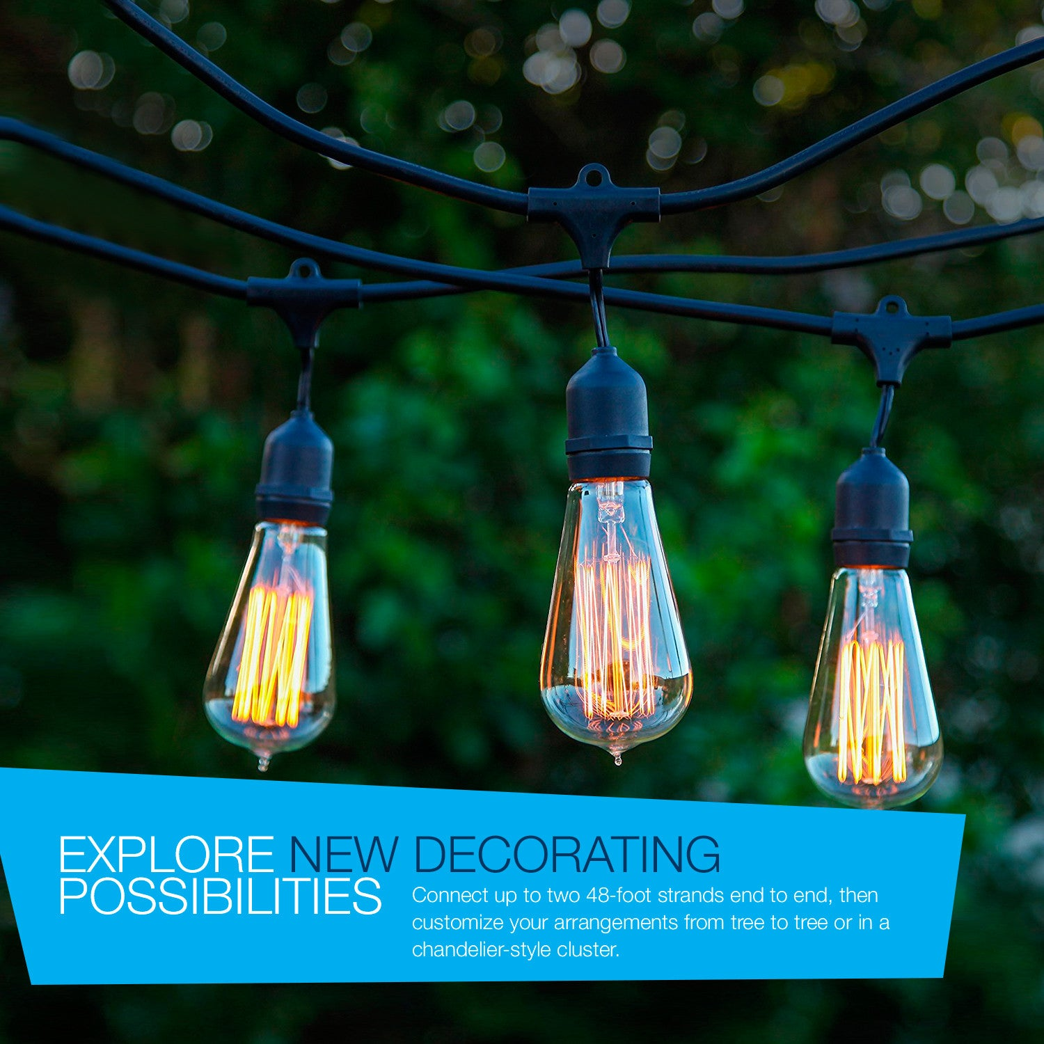 Brightech Store | Ambience Pro Vintage Edition With WeatherTite Technology  U2013 Outdoor Weatherproof Commercial Grade String Lights With Included Antique  ...