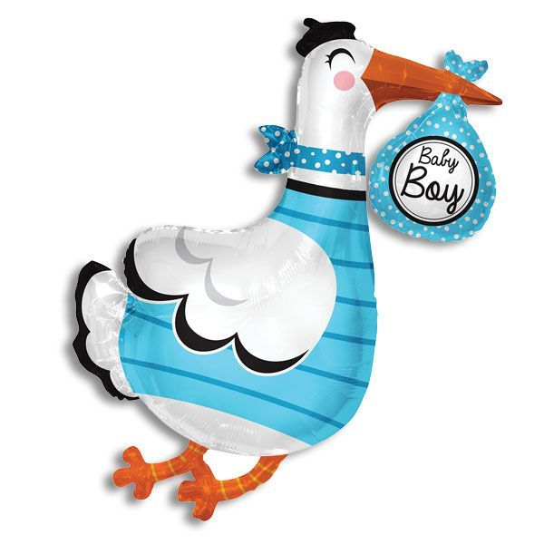 Baby Boy Stork Balloon