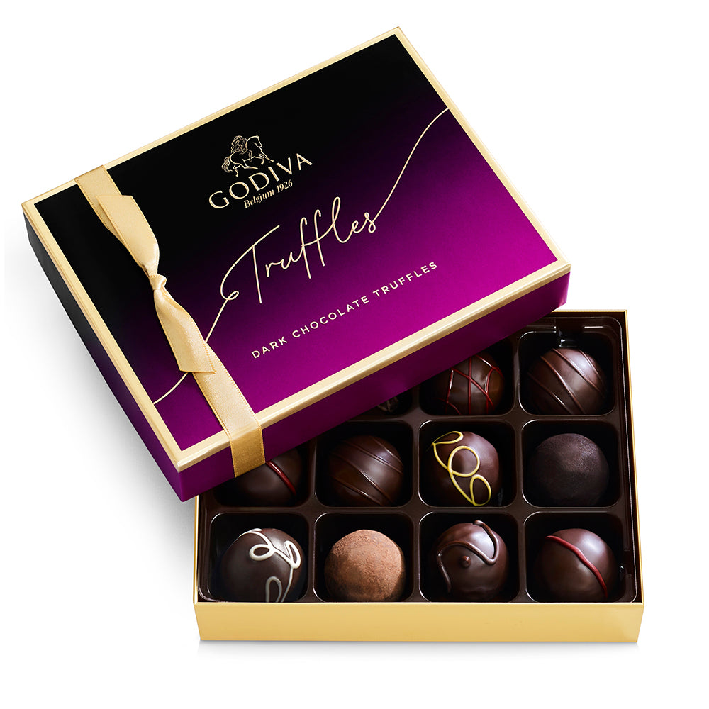 Godiva 12 pc Dark Chocolate Truffle