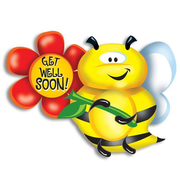 Get Well Bumble Bee Jumbo Balloon