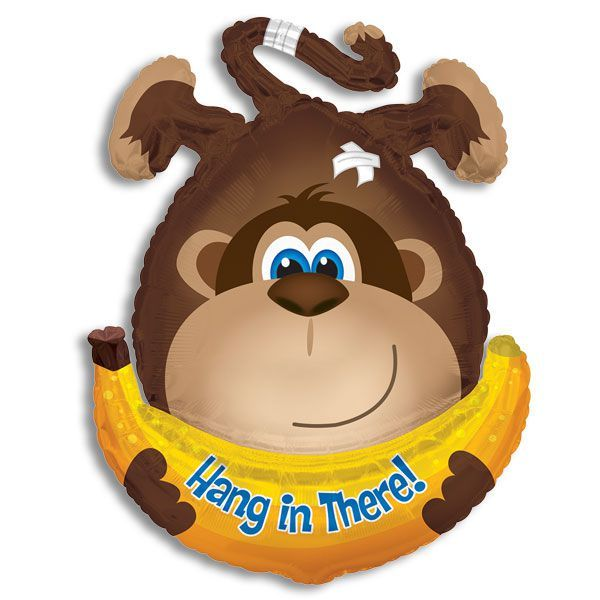 Hang in there Monkey with Banana Jumbo Balloon