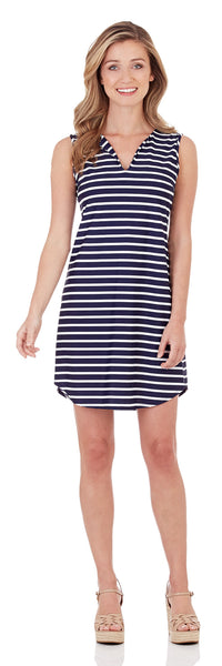 Alison Dress in Classic Stripe Navy White