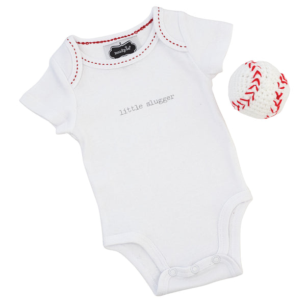 Baby Baseball Crawler with Rattle Set