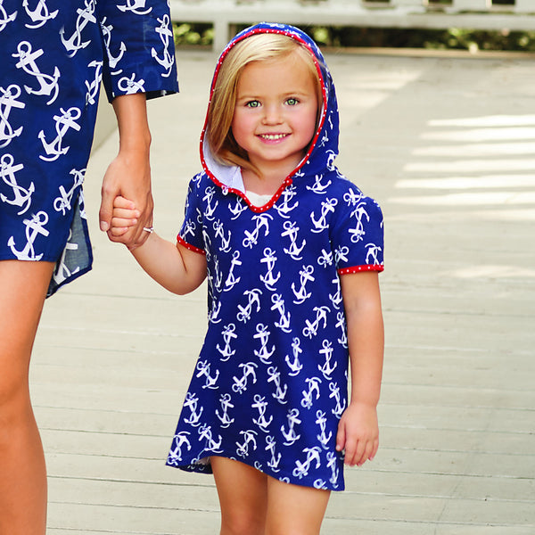 Girl's Nautical Cover-Up