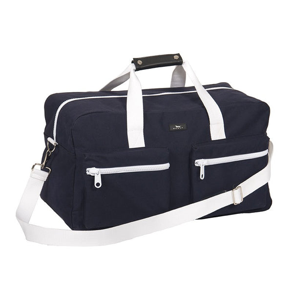 NAVY CANVAS DUFFY