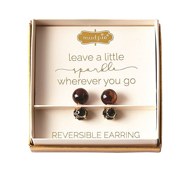 Rowena Reversible Bronze Earrings