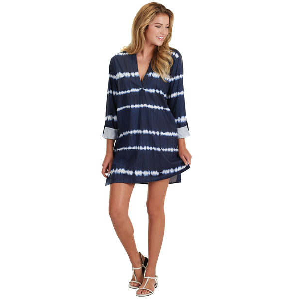 Navy Tie-Dye Cover-Up