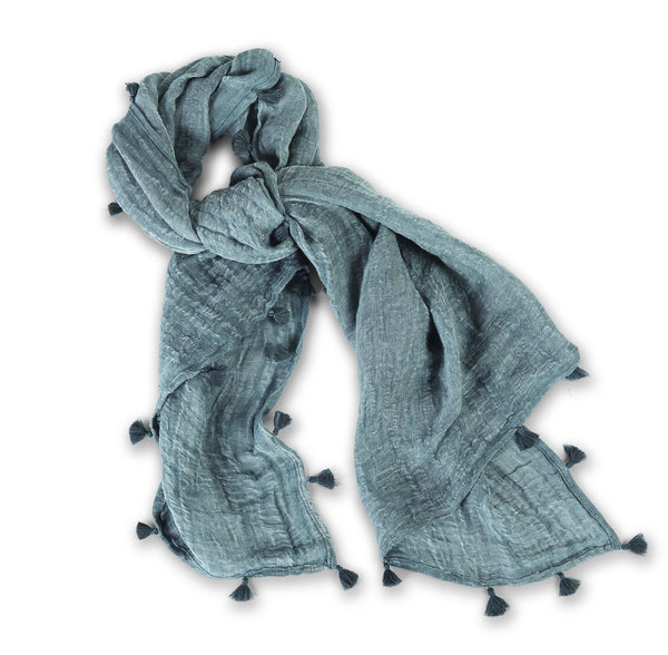 Linen Tassel Scarf (3 Colors Available)