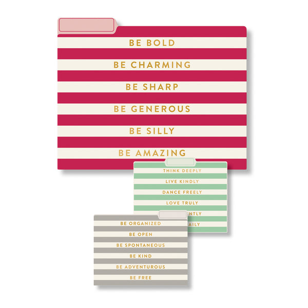 9 Striped File Folder Collection