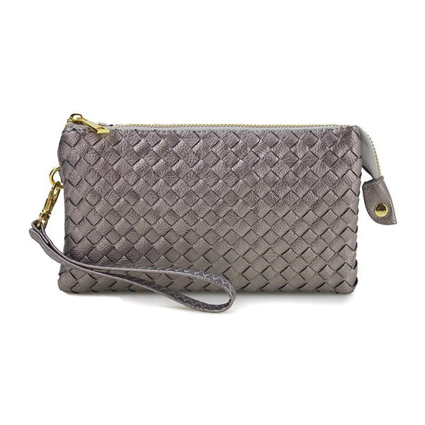 Woven 3-Way Crossbody (Available in 4 colors)