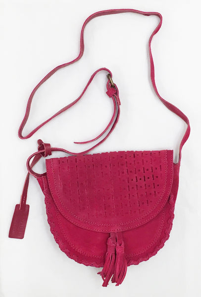Emma Mini Saddle Crossbody Berry