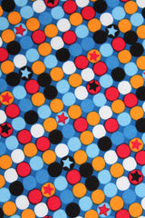 Emo Colorful Dots on Blue Scarf Bibana