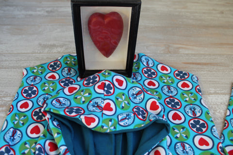 Hearts on Turquoise Hoodie