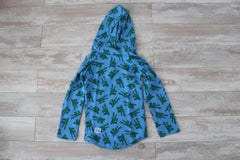 Crocodiles on Blue Hoodie