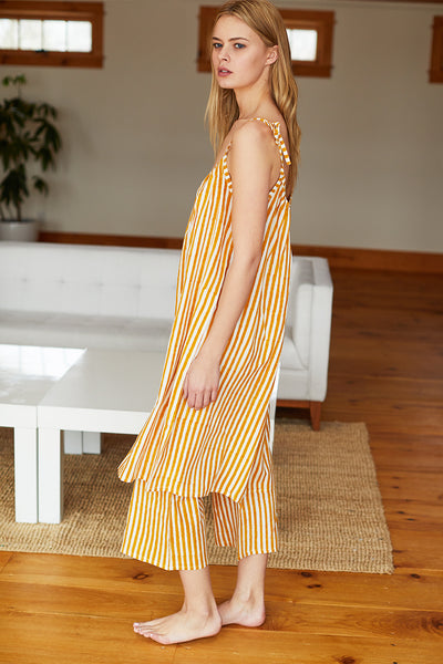 Bell Pant - Marigold Stripe