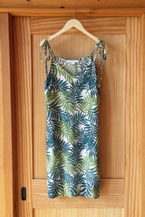 Slip Dress Short - Leafy Greens
