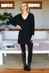 Long Sleeve Layering Dress - Black