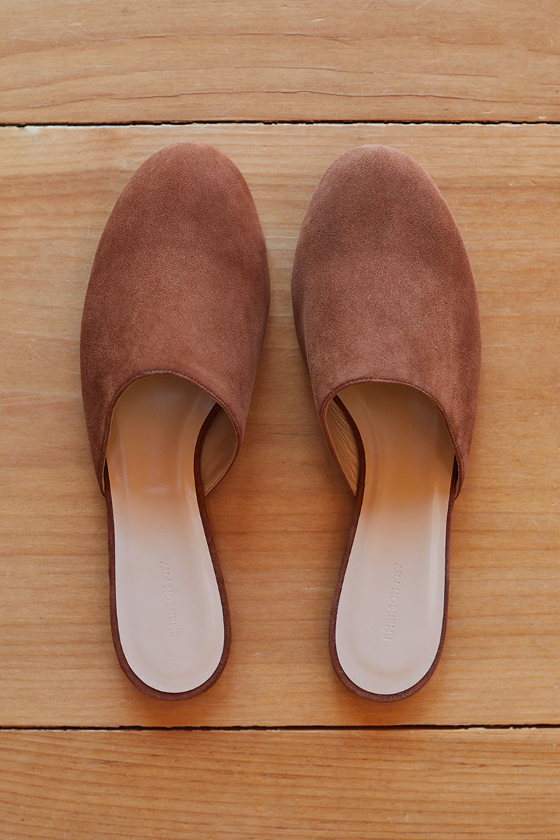 1be54bf3b31 Emerson Slides - Caramel Suede - Emerson Fry