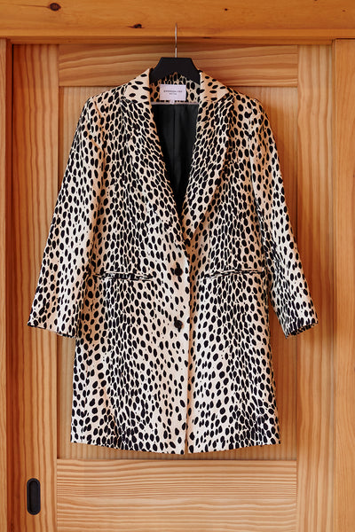 Wingtip Coat - Leopard