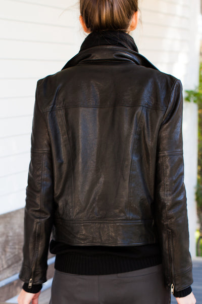 Emerson Biker Jacket - Black Leather