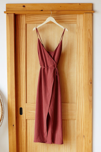 Wrap Dress - Desert Rose