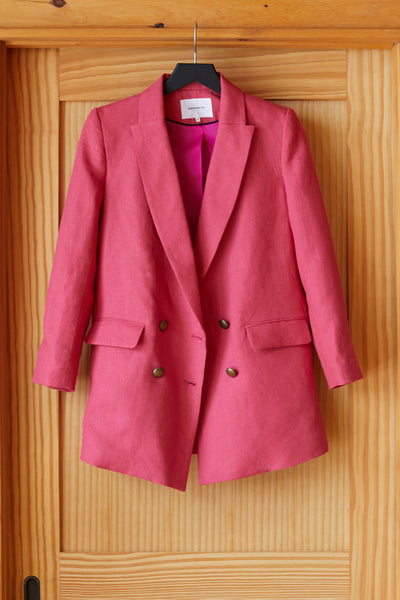 Double Breasted Jacket - Hot Pink