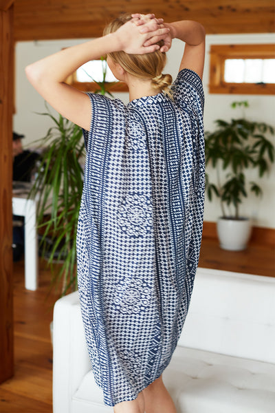 Emerson Short Caftan - Ink