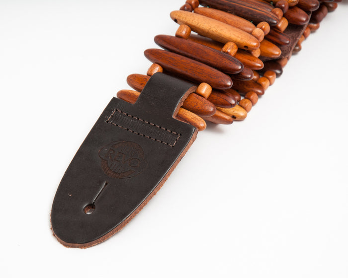 Tigerwood Bullet Style Guitar Strap