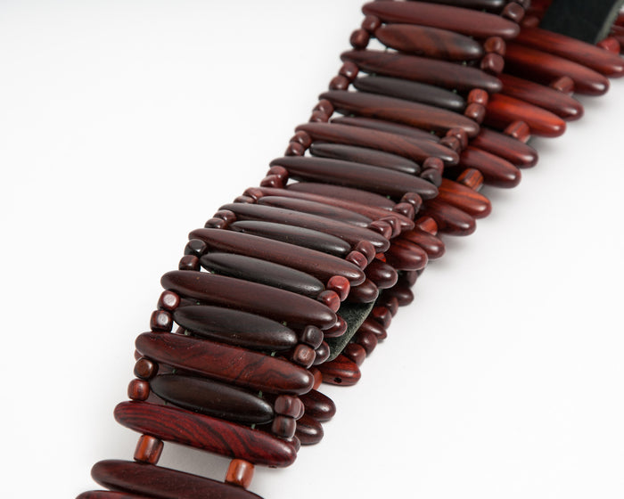 Rosewood Bullet Style Guitar Strap