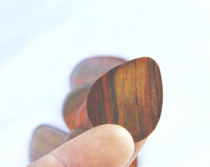 Pack of 10 Rosewood Guitar Picks