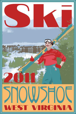 Limited Edition WV Ski Poster 2011