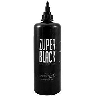 Intenze Inks Zuper Black - Steri-Studio Tattoo Supply Montreal fourniture de tatouage