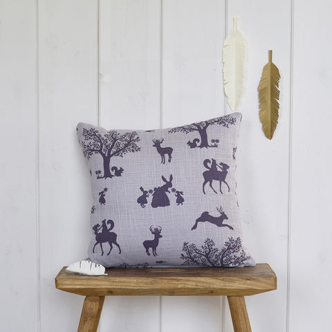 Enchanted Wood cushion - Lilac/Aubergine