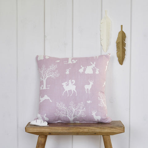 Enchanted Wood cushion - Peony Pink
